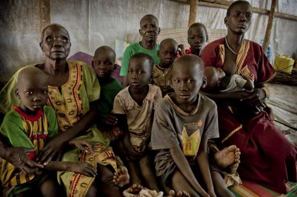 Refugees from South Sudan, Dzaipi transit centre in northern Uganda. (c)UNHCR/F. Noy